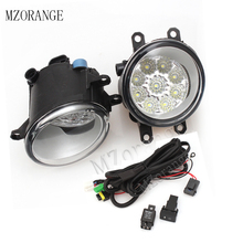 MZORANGE Fog Light Fog Lamp+Wire 9 LED for TOYOTA AVENSIS AURIS RAV 4 III CAMRY Corolla PRIUS YARIS 2003-2015 Wire Harness A Set 1 pair left and right 9 led front driving fog light lamp for toyota corolla camry yaris prius rav4 daytime running light