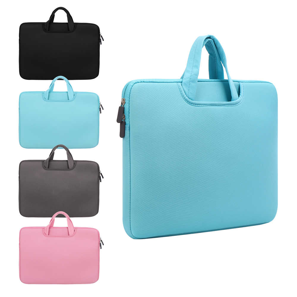 11 13 14 15 15.6 Inch Tas Laptop Komputer Lengan Case Tas Ritsleting Ganda Shockproof Cover untuk Laptop Macbook Air pro Retina