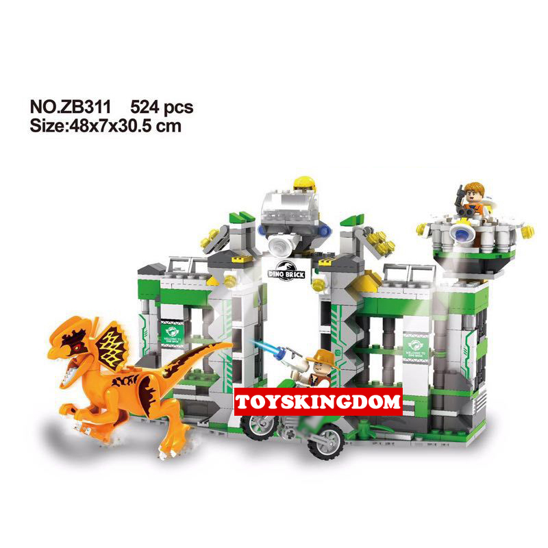 NEW Jurassic Dilophosaurus Flee Dinosaur World Lepins Building Block Figures Motorcycle Base Bricks Educational Toys for Gifts 2 sets jurassic world tyrannosaurus building blocks jurrassic dinosaur figures bricks compatible legoinglys zoo toy for kids