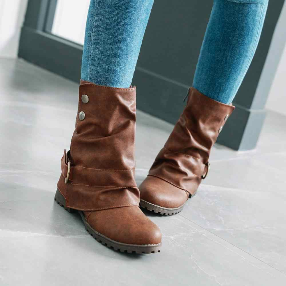 Western Ankle Boots for Women Retro
