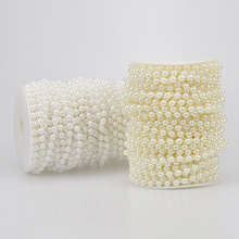 5-10m Fishing Line Artificial Pearls Beads Chain DIY Garland Wedding Party Decoration Supplies Bride Flowers Accessory