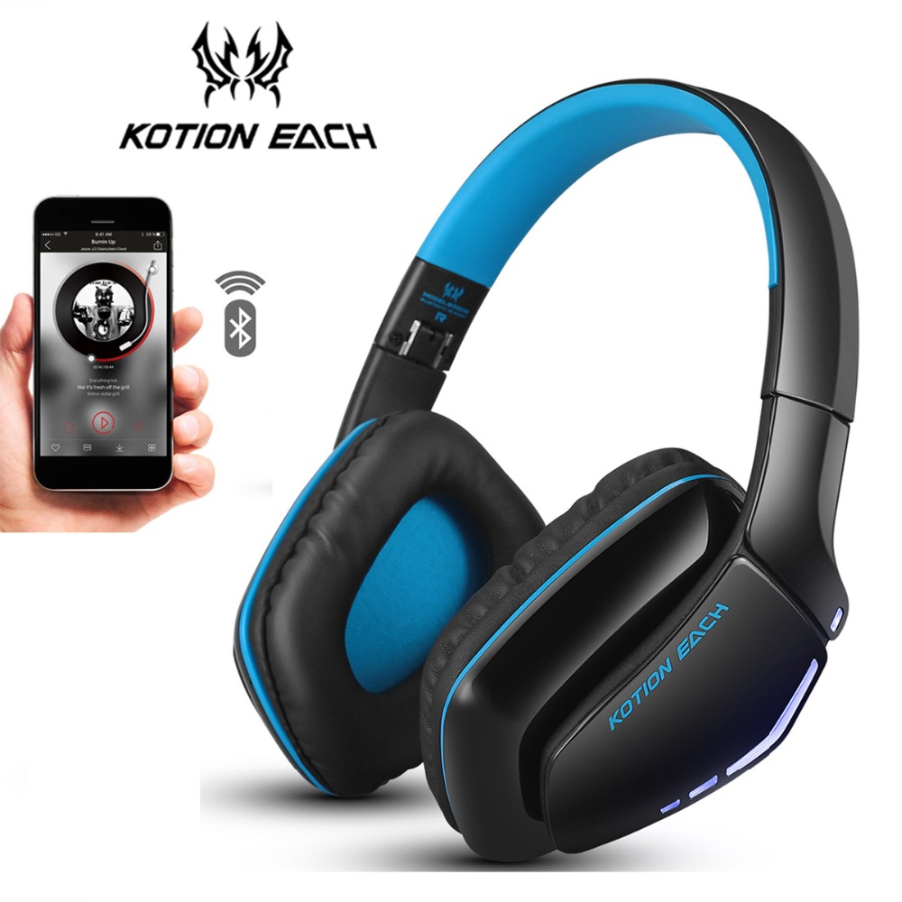 4728707d4ff KOTION EACH B3506 Bluetooth Headphones Foldable Wireless Deep Bass Stereo  PS4 Gaming Headsets with Mic Led Handsfree for Phone