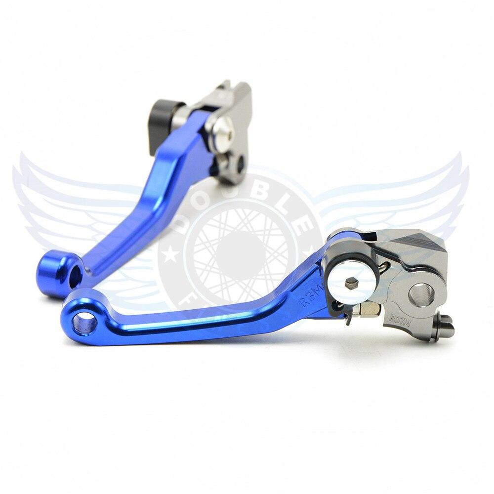 ФОТО CNC motorcycle Pivot Brake Clutch Levers blue motorbike brake clutch lever For Yamaha YZ426F YZ450F 2001-2007