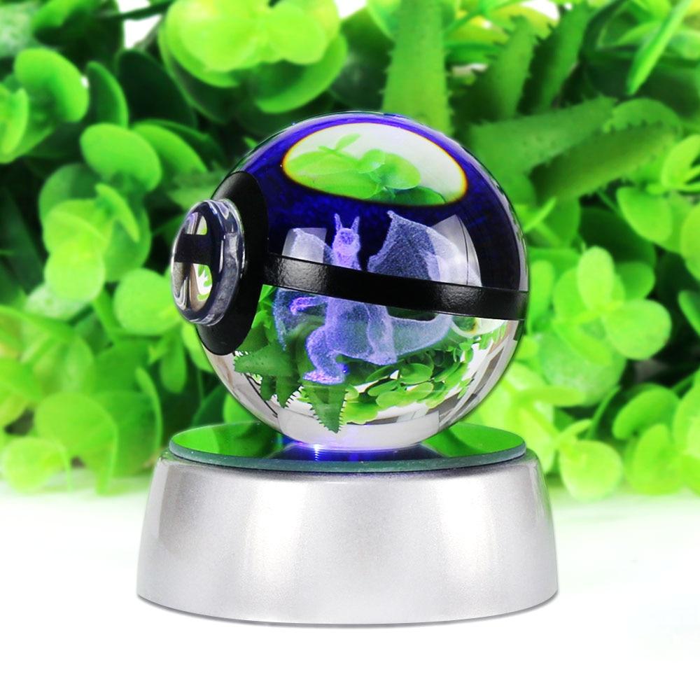 Charizard 3D Crystal Ball Pokemon Go 5CM үстелге - Түнгі жарық - фото 2