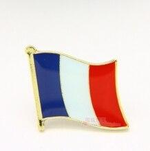 Flaga narodowa metalowa wpinka do klapy flaga Pin francja