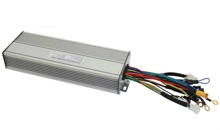 Silver 36V 48V 1200W Brushless DC Sine Wave Electric Bicycle Controller 12MOSFET 35A With Reverse and