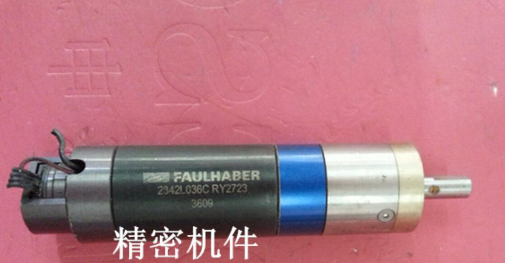only Motor quality be guaranteed second hand Used Germany FAULHABER 2342L036C 23/1 66: 1 gear motor with encoder robot asus m4a78 vm desktop motherboard 780g socket am2 ddr2 sata2 usb2 0 uatx second hand high quality