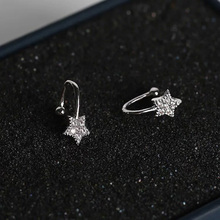 Aretes Orecchini Cubic Zirconia Star Women Direct Selling Ear Cuff 2019 New Fashion Zircon Stars Without Earrings Party