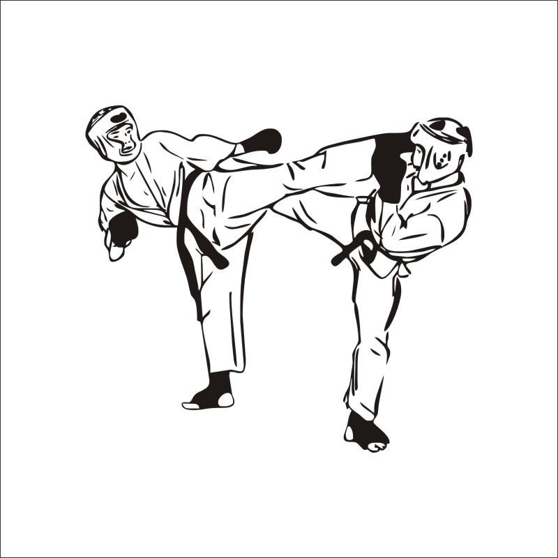 Enthusiasm Taekwondo Martial Arts Pattern Wallpaper Wall