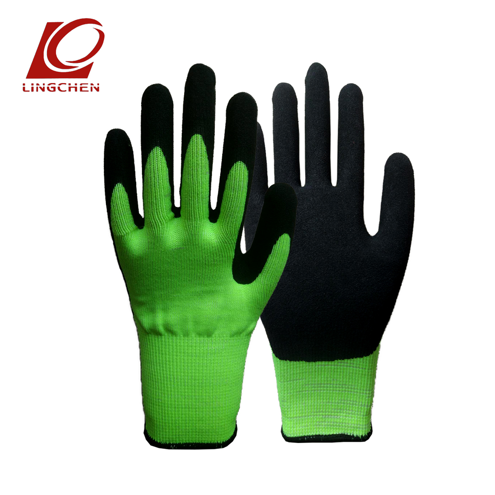 Hot Garden Planting Rubber Gloves Wear-resistant Glove Durable Use Nylon HPPE Nitrile Coated