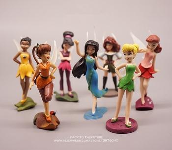 Disney dzwoneczek księżniczka Cartoon 10cm 7 sztuk zestaw mini lalka figurka Anime Mini kolekcja figurka zabawka model dla dzieci tanie i dobre opinie Dziewczyny 10 cm can not eat PIERWSZA EDYCJA 14 lat 12-15 lat 5-7 lat 8 lat 3 lat 8-11 lat Wyroby gotowe Tinker Bell