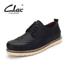 Clax Men's Boots Fashion Spring Autumn Men Leather Ankle Boot Casual Work Shoe Luxury Brand