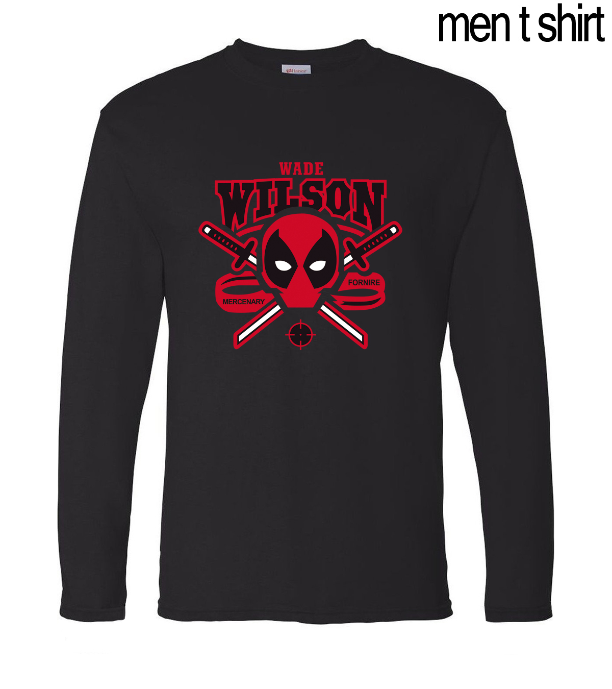 2019 New Spring Summer Wade Wilson Deadpool Long Sleeve Shirt 100% Cotton High Quality Male T-Shirts Fashion Brand Men T Shirts