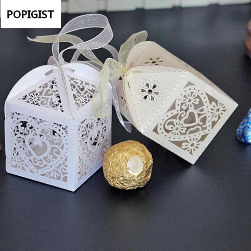 Aliexpress.com : Buy Love Heart Laser Cut Gift Candy Boxes