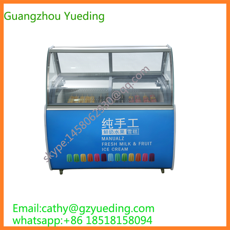 Commercial Ice Cream Display Case/Ice Cream Popsicle Display/Ice Cream Cake Display Freezer for sale цена