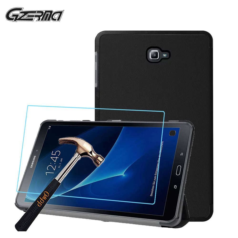 For Samsung Galaxy Tab A 10.1 2016 T580 T585 10.1 High Quality Tablet Case Cover Tri-fold Stand Laptop Cases + Screen Film image