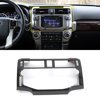 For Toyota 4Runner 2014-2019 Car Styling Accessiores ABS Central Console Navigation Decorative Cover Trim 1pcs