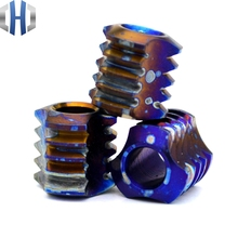 Pendants Titanium Knife Beads Delicate EDC Tools Alloy TC4 Baked Blue Anodized Paracord