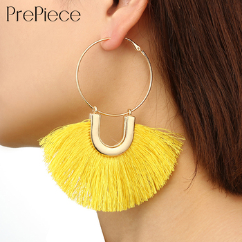 PrePiece Tassel Earring Bohemia Geometry Alloy Drop Earrings Trendy Jewelry Accessories for ShoppingDailyParty 2018 New PE1354