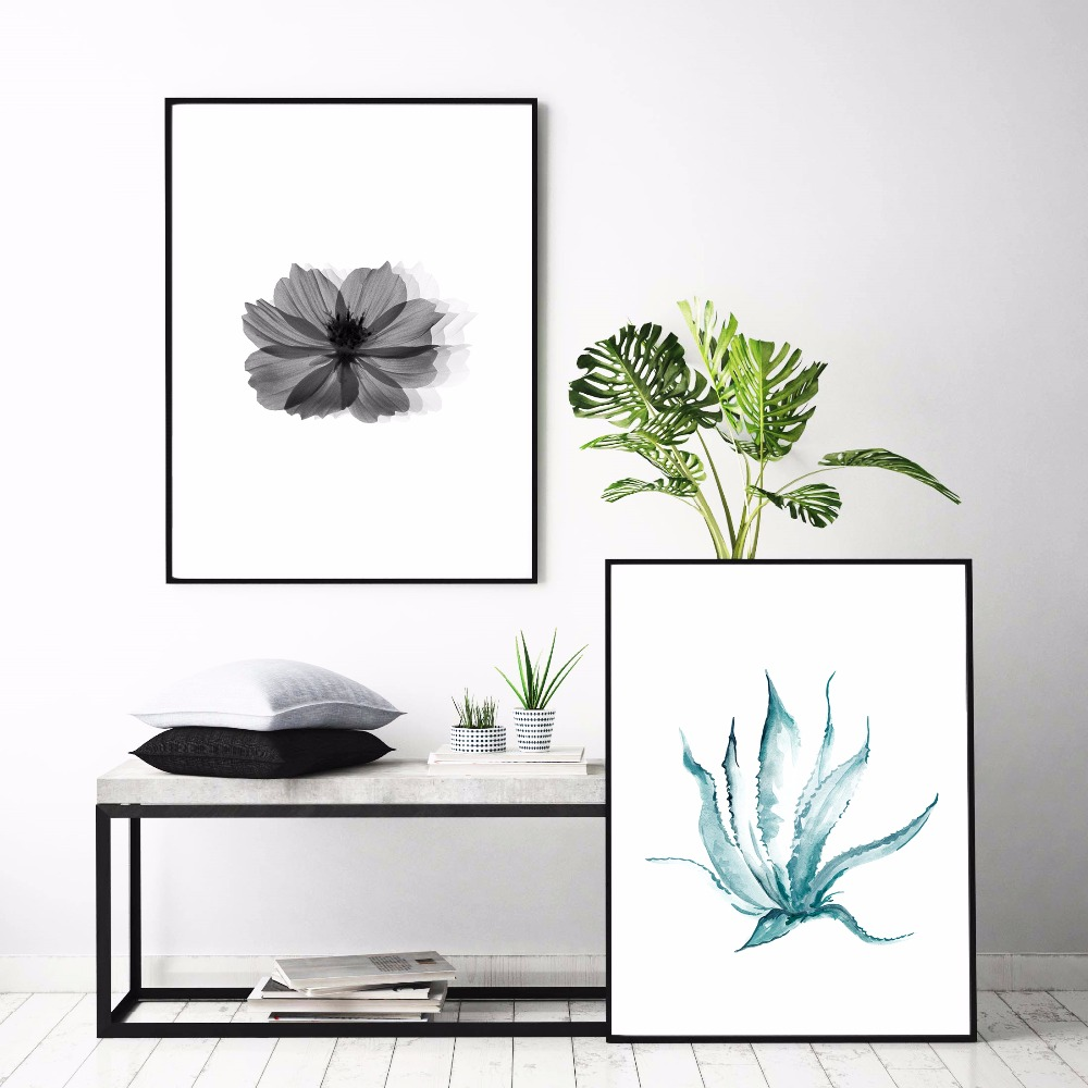 Plants And Flowers Scandinavian Canvas Art Print Painting Poster Wall Pictures For Living Room Decor Home Decorative No Frame