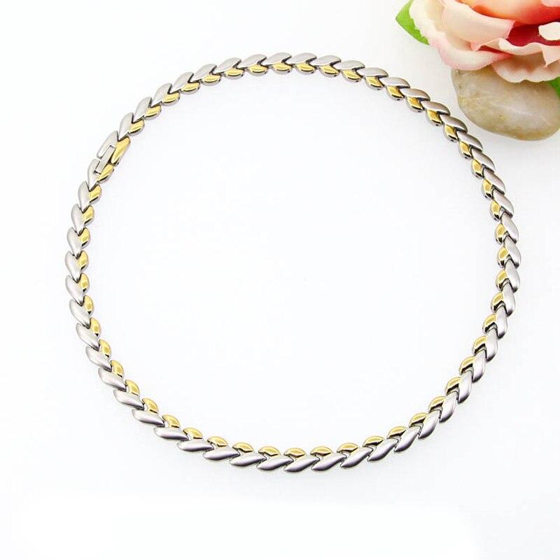 Лидер продаж! Полная магнит терапии энергии листьев Форма Цепочки и ожерелья Мощность подарок на день рождения для Для женщин mganetic Цепочки ...