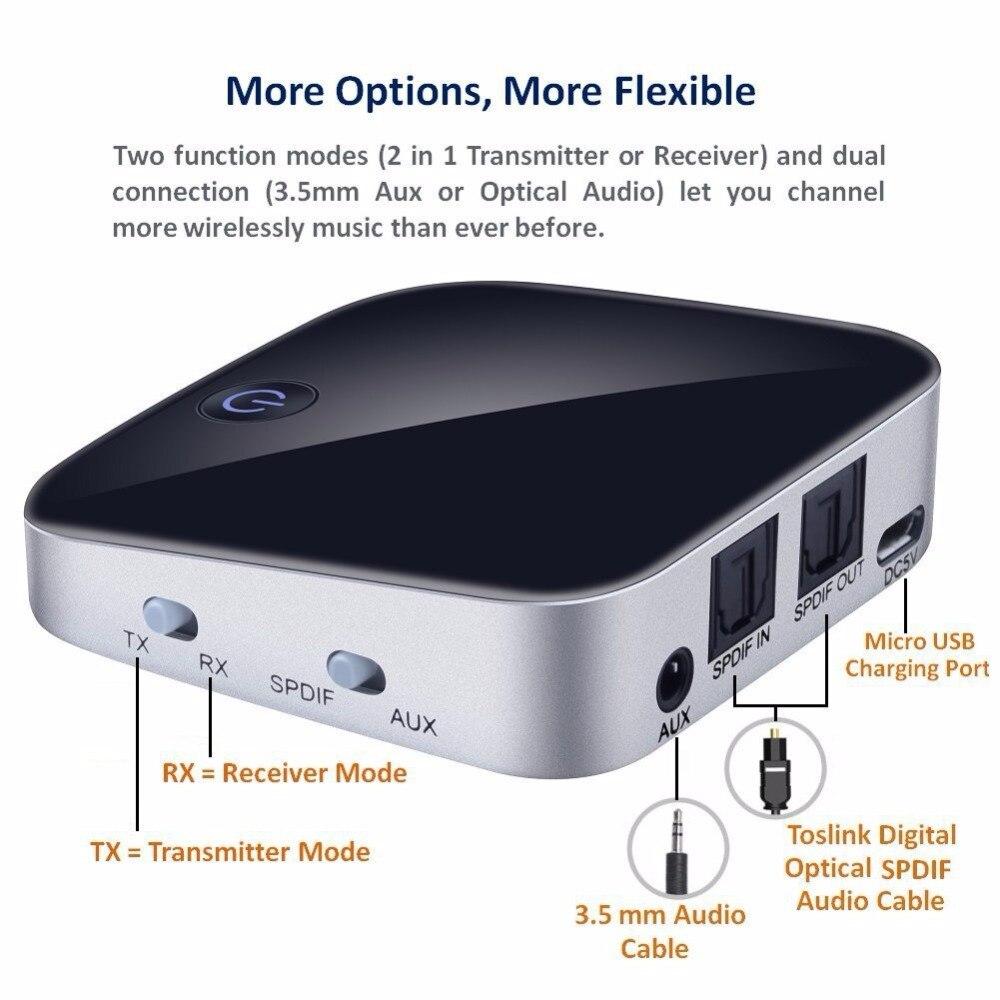 APT-X 2in1 Bluetooth 4,1 Audio transmitter & Receiver für Sound System Rezeptor Bluetooth Empfänger & sender bluetooth lautsprecher BH029S