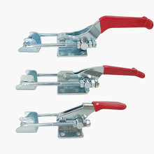 1pcs GH40323 Small Galvanized Hand Tool Outdoor Marine Grade Adjustable Hasp Fastener, Toggle Latch, Catch Hasps Trailer 1pcs silver red adjustable toolbox case metal toggle latch catch clasp length