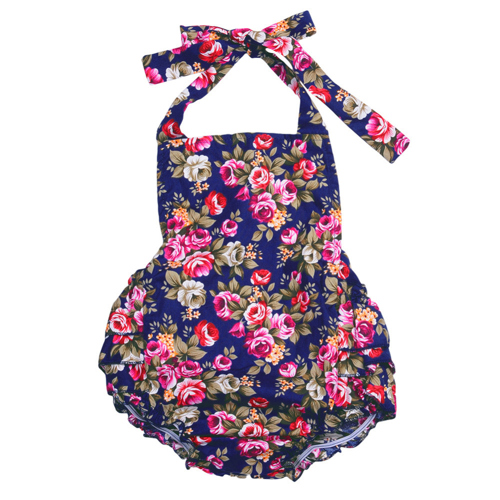 New  100% Cotton Baby Girl Romper Suit Floral Print Ruffle One-Piece Infant Rompers New born to 2T Infant Clothing newborn baby rompers baby clothing 100% cotton infant jumpsuit ropa bebe long sleeve girl boys rompers costumes baby romper