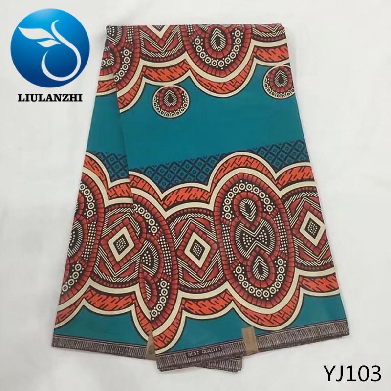 LIULANZHI Printing african Java wax fabric High quality nigerian dreess cotton wax fabric veritable batik fabric YJ84-YJ105