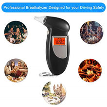 Professionele Alcohol Adem Tester Blaastest Analyzer Detector Test Sleutelhanger Breathalizer Breathalyser DeviceLCD Screen(China)