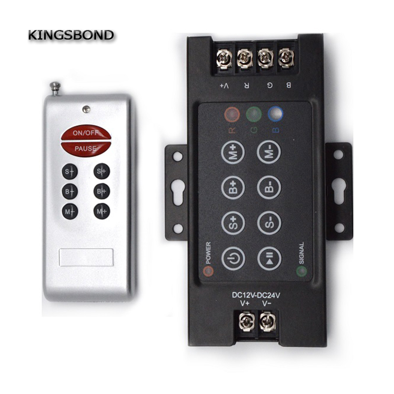 DC12V-24V Led RF 8 key RGB controller dimmer Touch switch for LED strip lights with remote for led strip light