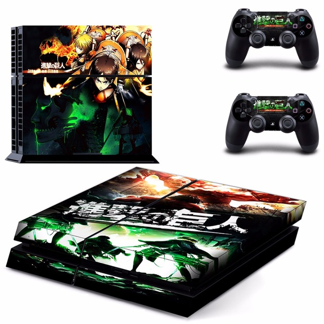 Attack on Titan Skin Sticker  Sony playstation 4