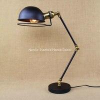 Waltornia Loft Nordic Amerykański przemysłowe maszyny retro kreatywny biurowe sypialnia badania długie ramię lampy biurko darmowa wysyłka