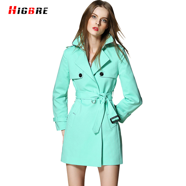 Europe Spring Coat Slim Trench Coat Basic Autumn Plus Size Women Trench Overcoat Winter Mid Long Outerwear Design Manteau Femme