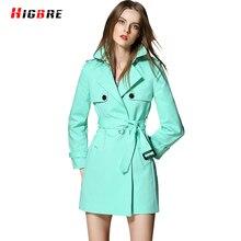 Europe Spring Coat Slim Trench Coat Basic Autumn Plus Size Women Trench Overcoat Winter Mid Long Outerwear Design Manteau Femme