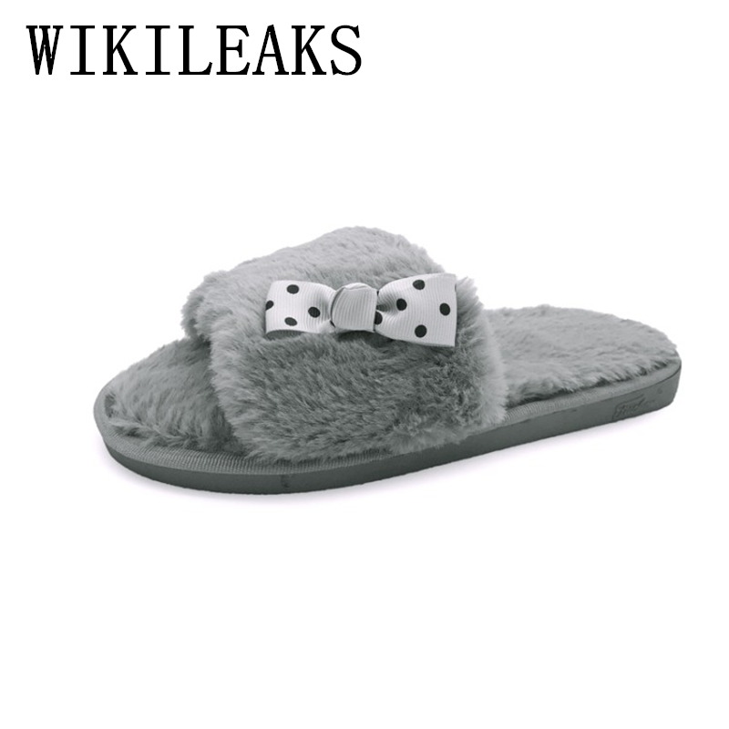 2018 designer fur slippers women shoes pantuflas mujer lady home slippers fashion fur slides mules d'ete pour femme bayan terlik flat fur women slippers 2017 fashion leisure open toe women indoor slippers fur high quality soft plush lady furry slippers