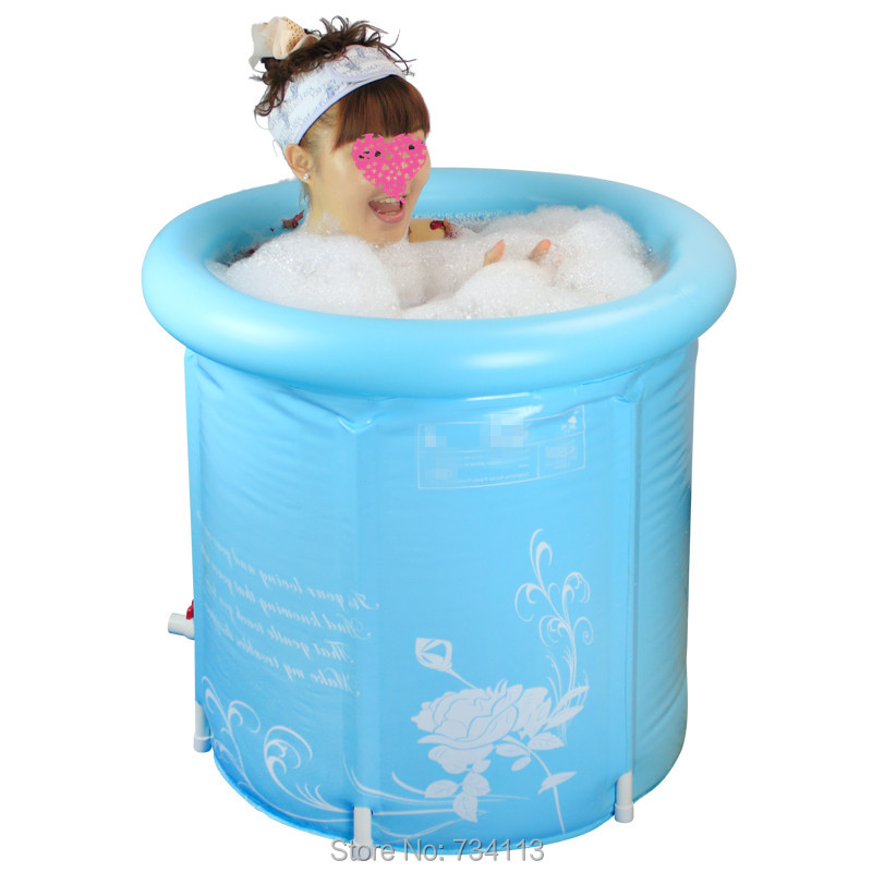 65x70cm Thick Folding Tub Inflatable Bathtub Without Cover Adult Bath Pool Children Tub