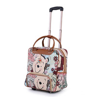 New Hot Fashion Women Trolley Luggage Rolling Suitcase Brand Casual Stripes Rolling Case Travel Bag on Wheels Luggage Suitcase