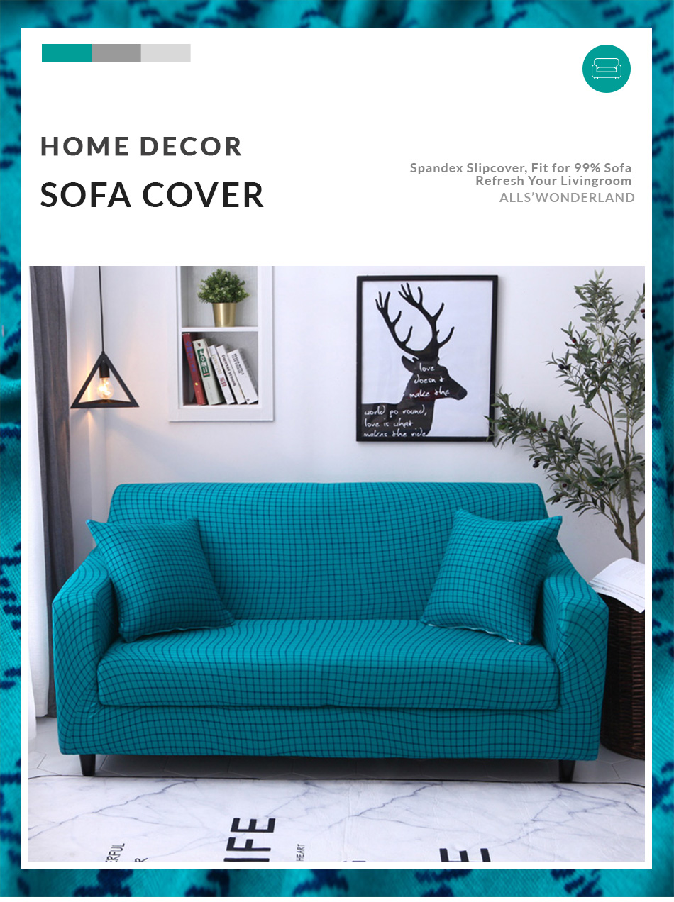 Marvelous Plaid Sofa Cover Stretch Seat Couch Covers Loveseat Short Links Chair Design For Home Short Linksinfo