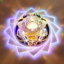 Dia20cm современный блеск кристаллов светодиодные светильники Гостиная акриловые светодиодные светильники коридор прохода затемнения светодиодные светильники
