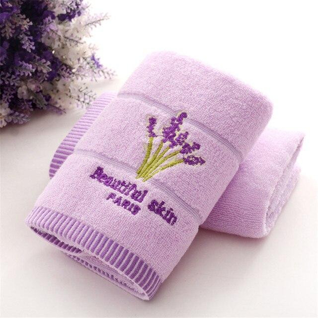 1 pz 33*74 cm di Fiori di lavanda jacquard Morbido Viso Asciugamano di Cotone Ca