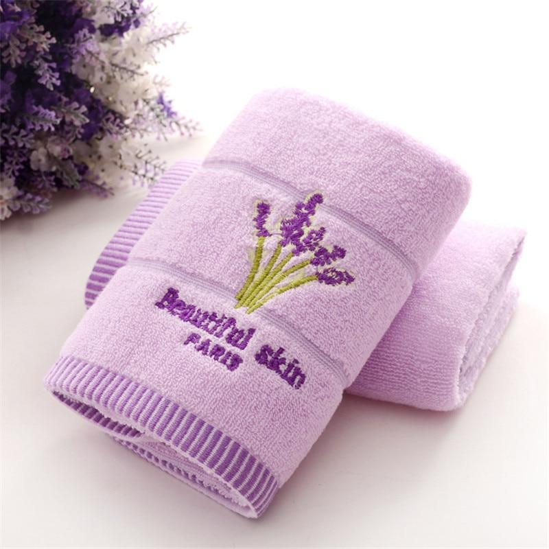 1 stücke 33 * 74 cm lavendel blume jacquard weiches gesicht towel baumwolle haar hand bad towel badlaken toalla toallas mano geschenk 42003