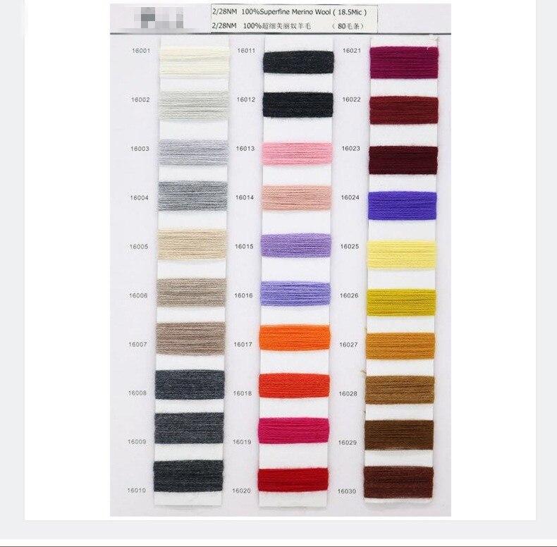 100% hilo de Merino para tejer ropa hilo 28 s/2 blanco gris negro colores respetuosos con el medio ambiente saludable 15 rollos pequeño al por mayor - 6