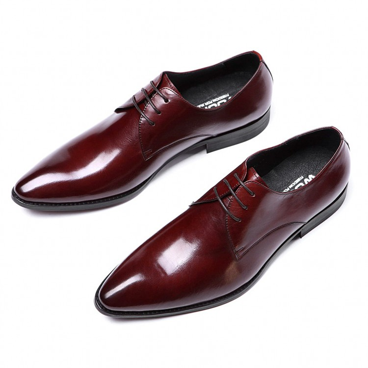 Hot Sale Men New Fashion Pointed Toe Genuine Leather Lace Up Handmade Oxfords Office Work Dress Wedding Shoes JS-A0059Hot Sale Men New Fashion Pointed Toe Genuine Leather Lace Up Handmade Oxfords Office Work Dress Wedding Shoes JS-A0059