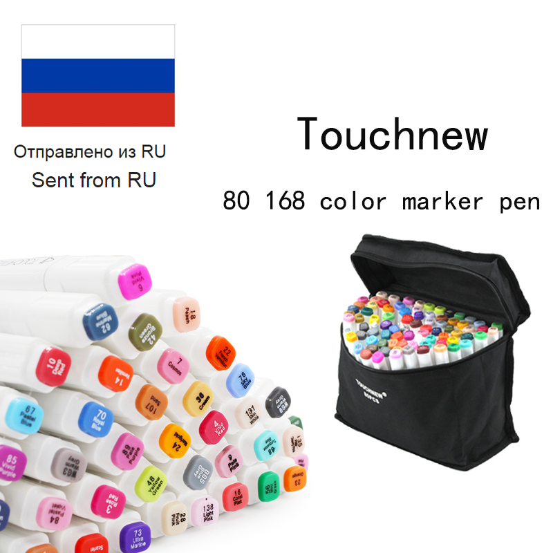 TOUCHNEW DIY Photo Album Art Markers 80 168 Color Dual Tips Art Sketch Twin Markers Comic Taking Drawing Planner Art Graffiti promotion touchfive 80 color art marker set fatty alcoholic dual headed artist sketch markers pen student standard