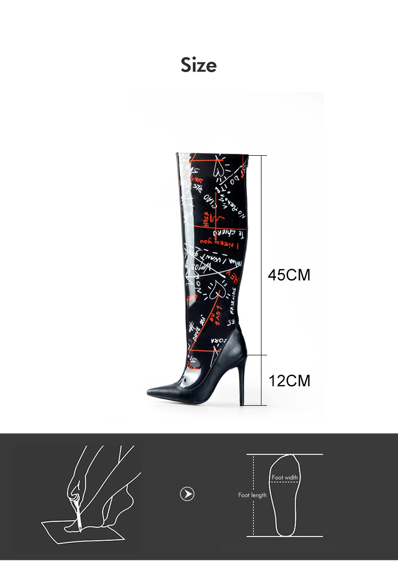 dbb9391ca212 Pink Palms Shoes Women Black Basic Boots Spring Autumn High Heel ...