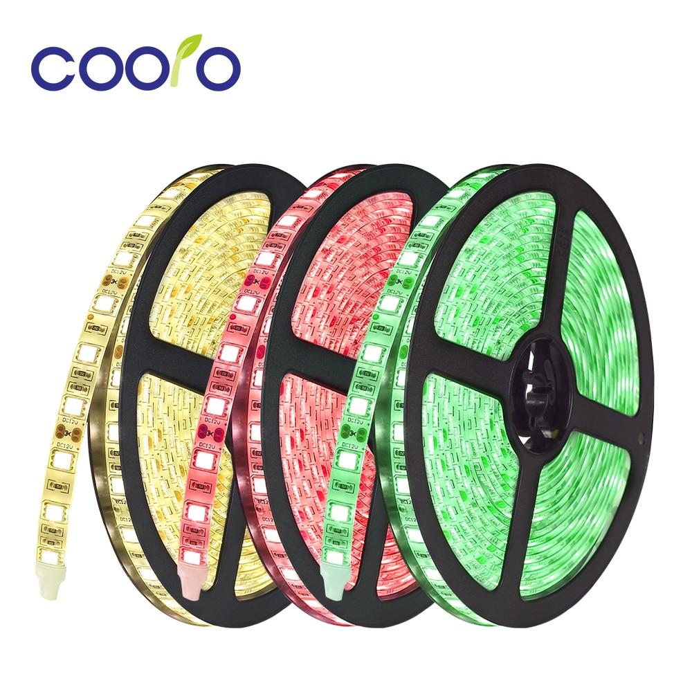 DC12V LED Strip 5050 Fiexible Light 60Led/m,White,Warm White,Cold White,RGB LED Strip Light,5m/lot
