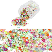 10Pcs/lot Mixed Sequins Hollow Five-pointed Star Heart-shaped Plum French Light Therapy Nail Glitter