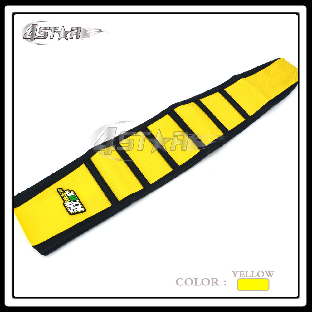 Yellow And Black Rubber Motorcycle Motocross Gripper Soft Grip Seat Cover Moto Part For RMZ250 RMZ