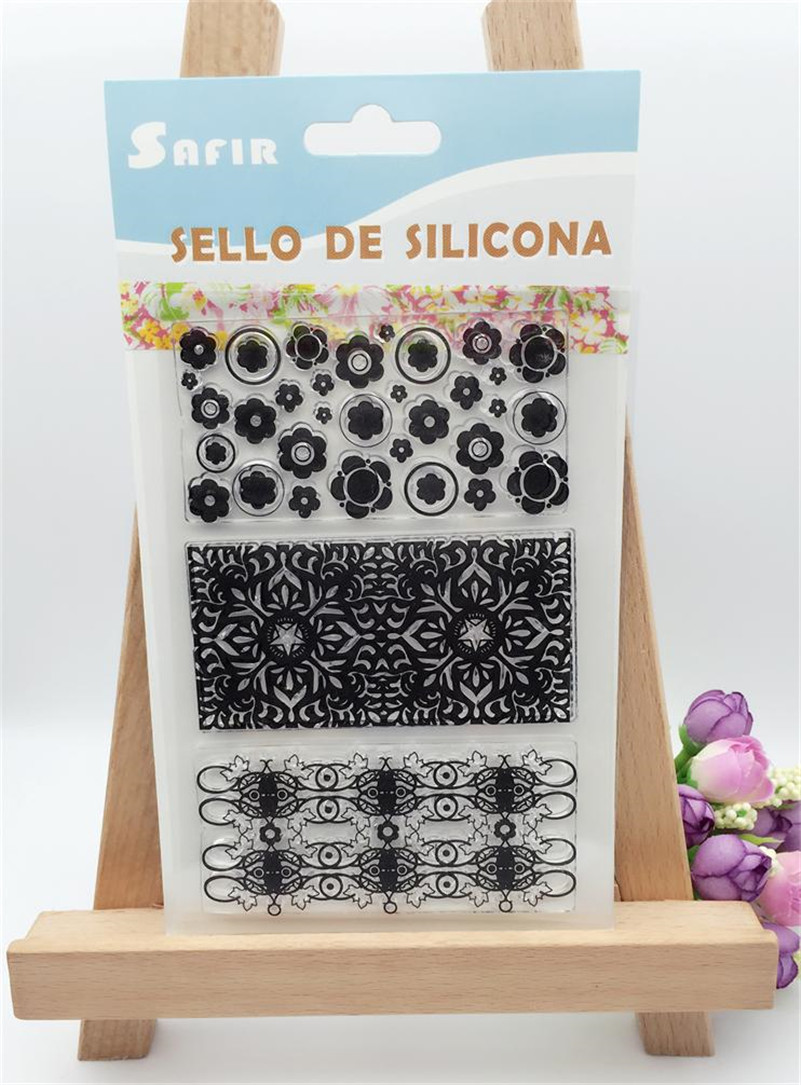 snow and flowers lace design Clear Silicone Stamps for DIY Scrapbooking paper card craft for Christmas Fun Decoration CL-231